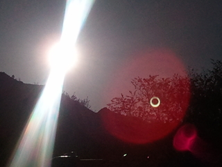 Eclipse from Bryce Canyon, UT