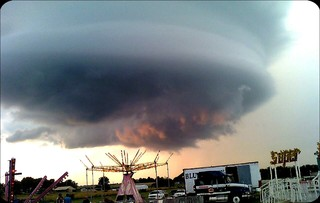 Crazy beautiful funnel cloud over Leeton, MO this same time last year!