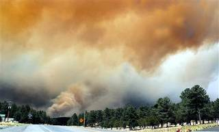 Ruidoso, N.M. Smoke in the mountains
