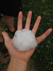 Baseball sized hail