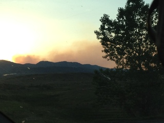 High park fire from Loveland