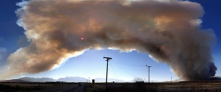 Wildfire in Eagle Mountain, Utah