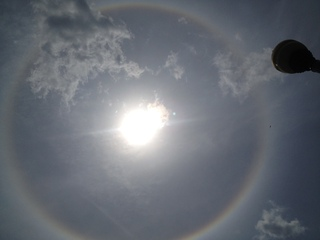 Rainbow around the sun.