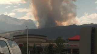 150 Acre Wildfire Outside Colorado Springs,CO