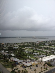 TS Debbie rain bands approach Daytona Beach