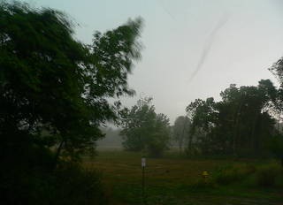 Funnel cloud showing strength of wind in Ohio taken 6/29/2012