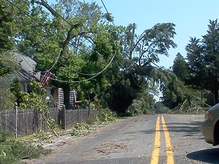 Mays Landing, NJ storm damage