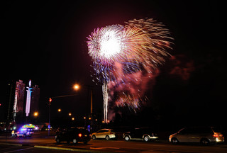 Weird photos taken at fireworks in Niagara Falls