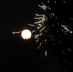 Full moon and fireworks!