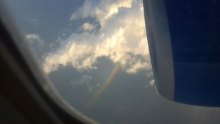 Rainbow through the sunroof