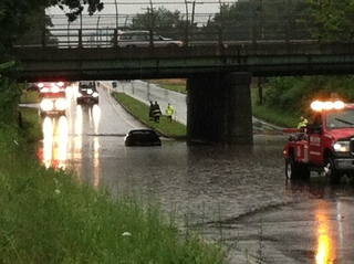 Rt 20 in Worcester flooded!