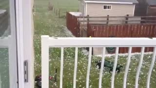 Crazy Tennis Ball Sized Hail Storm - Cardston, Alberta, Canada