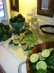 Happy hour from my lime tree
