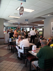 Packed Chick Fil A in Lexington, KY