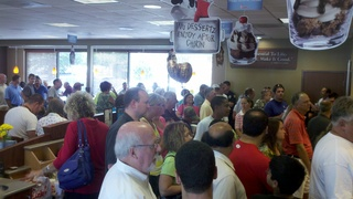 Chick-Fil-A lines around store at 1:00