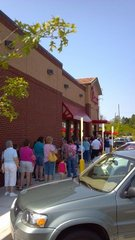 Chick-fil- crowd Cornelia, GA