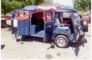 1967 VW Bus Van conversion at it's best in 1973 Let's Boogie