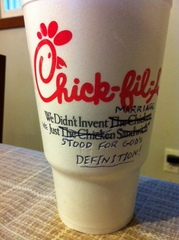 Support for Chick Fil A