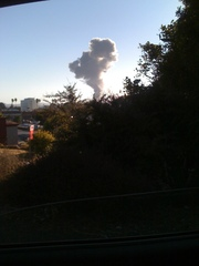 At 615 pm. Fire at Chevron Refinery