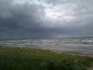 Lake Michigan during a storm