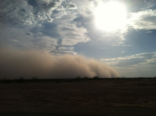 Haboob in East Valley AZ (outside of Phoenix )