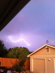 Lightning in Burleson TX