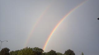 Double rainbow in Oak Creek