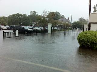 Isaac's outer bands flood Charleston