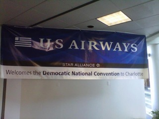 DNC welcome banners misspelled at CLT airport
