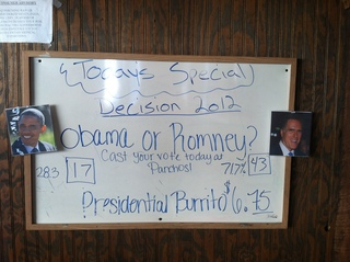Romney winning at Pancho's in San Antonio, Florida