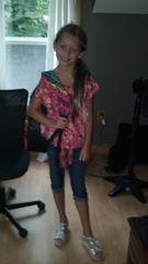 Isabella's first day of 4th grade.
