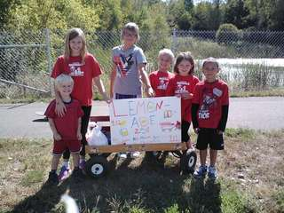 Kids raising donations for 9/11