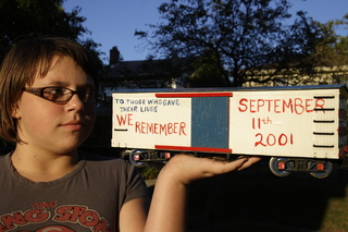 Memorial garden railroad car for 9/11/2001
