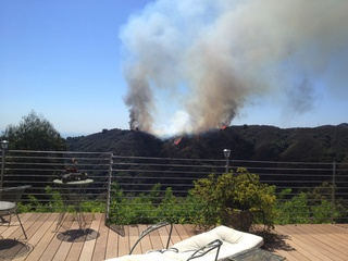 Brush Fire in Rustic Canyon - Pacific Palisades - Mandeville Canyon
