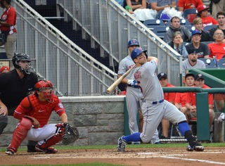 David Wright swinging away