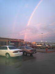 Double rainbow at dfw