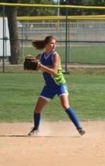 Athletic shortstop in action...