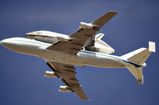Space Shuttle Endeavor's final flight over Toluca Lake, CA
