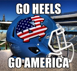 UNC Football Military Helmet