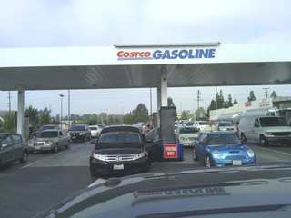 Crazy costco gas lines