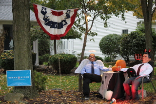 Halloween Political Scene Fun in Mentor, Ohio
