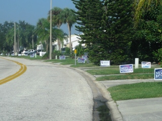 Political signs in Tampa, FL