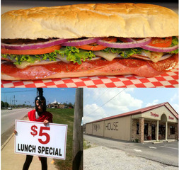 Trojan House Sandwich Shop in Muscle Shoals, Al.