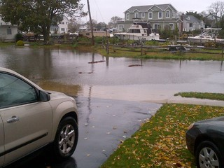 High tide in Wantagh, NY during hurricane