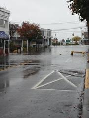 Port Jefferson, Long Island NY. Flooding