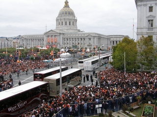Giants World Series SF Tickertape Parade at Civic Center