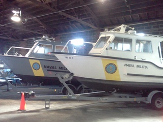NJ Naval Guard Boats sitting in Lodi Armory waiting for orders