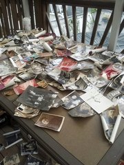 Trying to save old pictures after Hurricane Sandy flooding