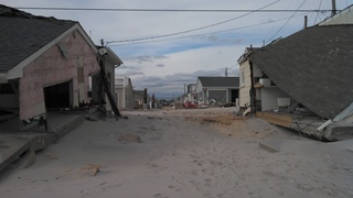 Hurricane Sandy - Destruction in Ocean Beach