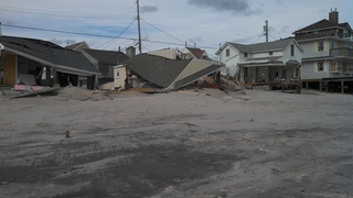 Hurricane Sandy - Destruction in Ocean Beach 3 NJ